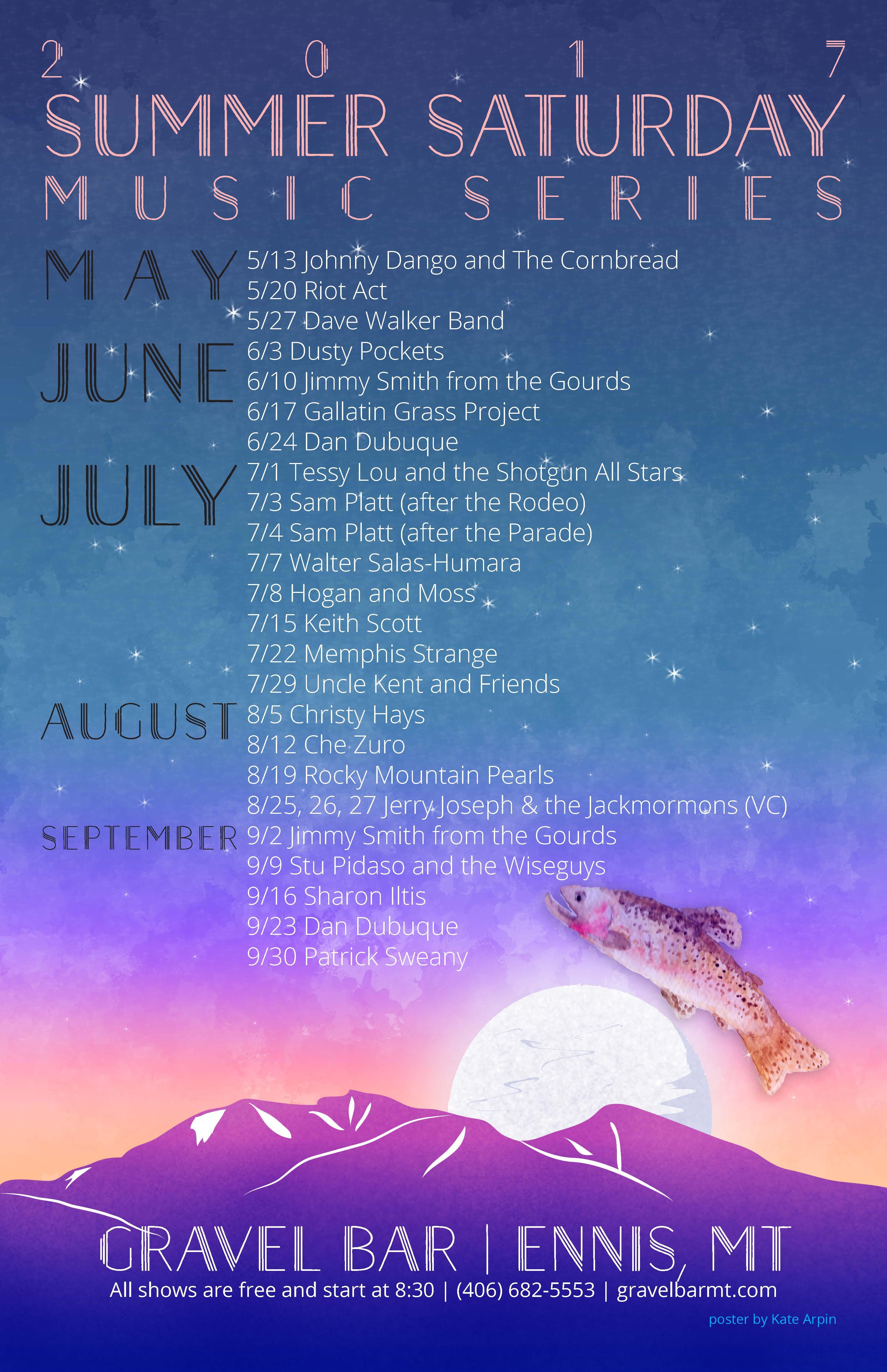 GBar Summer Music Poster 2017