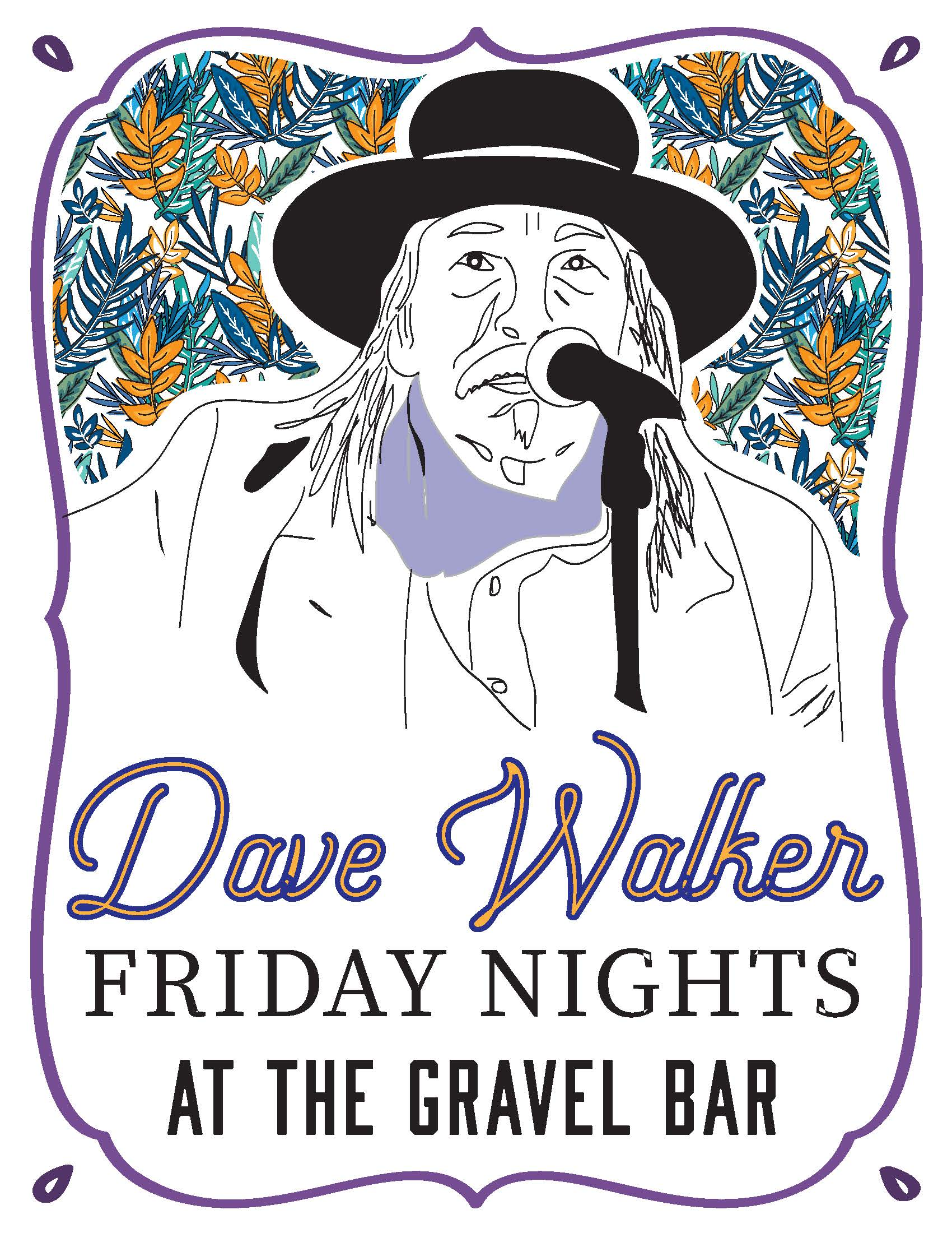 Dave Walker Winter Fridays Poster